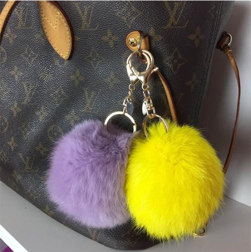 gul och lila pouff
